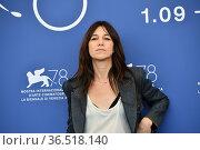 Charlotte Gainsbourg during Sundown photocall, 78th Venice International... Редакционное фото, фотограф Antonelli / AGF/Maria Laura Antonelli / age Fotostock / Фотобанк Лори