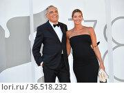 Alberto Barbera direttore and his wife Giulia Rosmarini during Sundown... Редакционное фото, фотограф Antonelli / AGF/Maria Laura Antonelli / age Fotostock / Фотобанк Лори