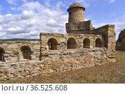 Benabarre or Benavarri, Castillo de los Condes de Ribagorza (11-19th... Стоковое фото, фотограф J M Barres / age Fotostock / Фотобанк Лори