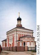 Church of the Three Saints in the village of Tolstoy, Russia. Стоковое фото, фотограф Zoonar.com/Boris Breytman / easy Fotostock / Фотобанк Лори