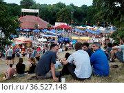 Blick auf das ZMF-Gelände beim Zeltmusikfestival ZMF Freiburg - Dieter... Стоковое фото, фотограф Zoonar.com/Joachim Hahne / age Fotostock / Фотобанк Лори