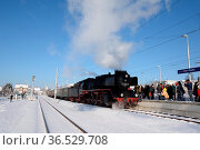 Dampflok , Winter, lok, dampflokomotive, lokomotive, eisenbahn, bahn... Стоковое фото, фотограф Zoonar.com/Volker Rauch / easy Fotostock / Фотобанк Лори