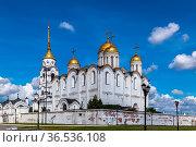 Dormition Cathedral in Vladimir used to be a mother church of medieval... Стоковое фото, фотограф Zoonar.com/Boris Breytman / easy Fotostock / Фотобанк Лори