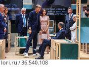 Princess Mary, Mayor Giuseppe Sala, Rossana Orlandi, the designer... Редакционное фото, фотограф Claudia Greco / AGF/Claudia Greco / AGF / age Fotostock / Фотобанк Лори