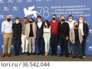 The director Gabriele Mainetti and cast : Claudio Santamaria, Aurora... Редакционное фото, фотограф Maria Laura Antonelli / AGF/Maria Laura Antonelli / age Fotostock / Фотобанк Лори