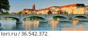 Blick auf die Altstadt von Basel mit dem Basler Münster, der Martins... Стоковое фото, фотограф Patrick Frischknecht / age Fotostock / Фотобанк Лори