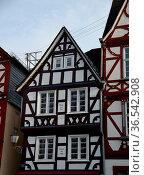 Fachwerkhaus , Hachenburg, Westerwald, fachwerk, rheinland-pfalz,... Стоковое фото, фотограф Zoonar.com/Volker Rauch / easy Fotostock / Фотобанк Лори