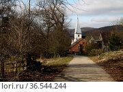 Paulus-Kirche Hohenhausen. Стоковое фото, фотограф Zoonar.com/Martina Berg / easy Fotostock / Фотобанк Лори