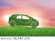 Concept of ecological electric car. Стоковое фото, фотограф Elnur / Фотобанк Лори