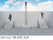 Concept of unfair career progression. Стоковое фото, фотограф Elnur / Фотобанк Лори