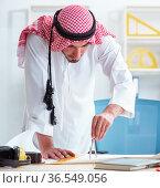 Arab engineer working on new project. Стоковое фото, фотограф Elnur / Фотобанк Лори