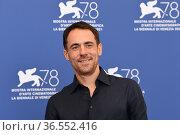 Elio Germano during the photocall at the 78th Venice Film Festival... Редакционное фото, фотограф Maria Laura Antonelli / AGF/Maria Laura Antonelli / age Fotostock / Фотобанк Лори