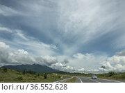 Road to Teluk Melano from Lundu, Sarawak, East Malaysia. Стоковое фото, фотограф Chua Wee Boo / age Fotostock / Фотобанк Лори