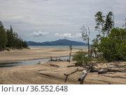 Kampung Pueh beach, Sematan, Sarawak, East Malaysia. Стоковое фото, фотограф Chua Wee Boo / age Fotostock / Фотобанк Лори