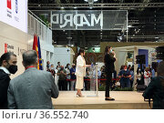 Participation of politicians and professionals of the tourism sector... Редакционное фото, фотограф Luis Fidel Ayerves / age Fotostock / Фотобанк Лори