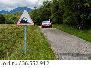 Strasse mit einem Gefälle von 25 Prozent, Schottland, Grossbritannien... Стоковое фото, фотограф Zoonar.com/Pant / age Fotostock / Фотобанк Лори