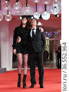 Charlotte Gainsbourg with husband the director Yvan Attal during ... Редакционное фото, фотограф Maria Laura Antonelli / AGF/Maria Laura Antonelli / age Fotostock / Фотобанк Лори