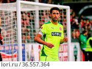 Kapitän Karim Haggui (Düsseldorf), Fussball: 2.BL. - 15/16 - SC Freiburg... Стоковое фото, фотограф Zoonar.com/Joachim Hahne / age Fotostock / Фотобанк Лори