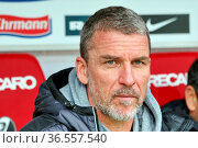 Trainer Marco Kurz (Düsseldorf), Fussball: 2.BL. - 15/16 - SC Freiburg... Стоковое фото, фотограф Zoonar.com/Joachim Hahne / age Fotostock / Фотобанк Лори