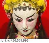 Macau, China. Puppet of a female warrior, made of wood and textiles... (2012 год). Редакционное фото, фотограф Ken Welsh / age Fotostock / Фотобанк Лори
