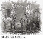 The monastery of Lindisfarne, founded c. 634 by Irish monk Saint ... Редакционное фото, фотограф Classic Vision / age Fotostock / Фотобанк Лори