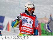 TRESPEUCH Chloe(FRA) jubelt über ihren Sieg beim FIS Weltcup Snowboard... Стоковое фото, фотограф Zoonar.com/Joachim Hahne / age Fotostock / Фотобанк Лори
