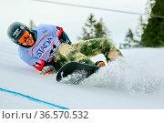 Schwerer Sturz: Überschattet wurde der Snowboard-Weltcup vom schweren... Стоковое фото, фотограф Zoonar.com/Joachim Hahne / age Fotostock / Фотобанк Лори