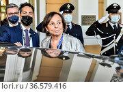 Italian Minister of Interior Luciana Lamorgese during the Ambrosetti... Редакционное фото, фотограф Nicola Marfisi / AGF/Nicola Marfisi / AGF / age Fotostock / Фотобанк Лори