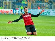 Torschuetze / Torschütze Vincenzo Grifo (Freiburg) bejubelt sein ... Стоковое фото, фотограф Zoonar.com/Joachim Hahne / age Fotostock / Фотобанк Лори