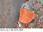 Stein, steine, fels, natur, rot, orange, braun, kontrast, kontraste... Стоковое фото, фотограф Zoonar.com/Volker Rauch / easy Fotostock / Фотобанк Лори