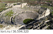 Ancient roman theater at Miletus in southern Turkey. Стоковое видео, видеограф Яков Филимонов / Фотобанк Лори