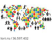 Globale Vernetzung. Стоковое фото, фотограф Zoonar.com/scusi / age Fotostock / Фотобанк Лори