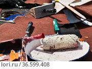 Alte Farbe und Malerpinsel verschmutzen die Umwelt. Стоковое фото, фотограф Zoonar.com/Karl Heinz Spremberg / easy Fotostock / Фотобанк Лори