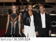 Agathe Rousselle, Julia Ducournau and Vincent Lindon attends to '... Редакционное фото, фотограф NACHO LOPEZ / age Fotostock / Фотобанк Лори