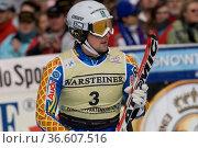 Markus Larsson, Schweden, FIS Ski Weltcup Slalom der Herren, Kandahar... Стоковое фото, фотограф Zoonar.com/Günter Lenz / age Fotostock / Фотобанк Лори