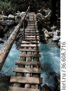 Brücke, steg, holzbrücke, canyon,klamm, schlucht, stromschnelle, türkei... Стоковое фото, фотограф Zoonar.com/Volker Rauch / easy Fotostock / Фотобанк Лори