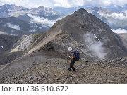 Decline to Cauarere peak, 2660 meters, Hautes-Pyrenees department... Редакционное фото, фотограф Tolo Balaguer / age Fotostock / Фотобанк Лори
