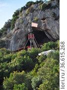 Piratenhöhle, Istrien, Kroatien, höhle, limfjord, limski, limski-kanal... Стоковое фото, фотограф Zoonar.com/Volker Rauch / easy Fotostock / Фотобанк Лори