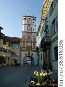 Frauentor in der Altstadt von Wangen im Allgäu, Baden-Württemberg... Стоковое фото, фотограф Zoonar.com/Günter Lenz / age Fotostock / Фотобанк Лори
