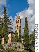 San Siro - idyllische kleine Kirche in Lasino im Val Cavedine. Стоковое фото, фотограф Zoonar.com/Eder Christa / age Fotostock / Фотобанк Лори