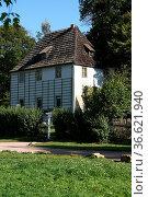 Johann Wolfgang von Goethes Gartenhaus in Weimar im Park an der Ilm... Стоковое фото, фотограф Zoonar.com/Martina Berg / easy Fotostock / Фотобанк Лори
