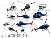 Helicopters set isolated. Стоковое фото, фотограф Яков Филимонов / Фотобанк Лори