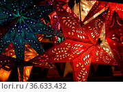 Weihnachtssterne, Weihnachtsstern, stern, sterne, beleuchtung, weihnachtsbeleuchtung... Стоковое фото, фотограф Zoonar.com/Volker Rauch / easy Fotostock / Фотобанк Лори