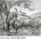 Eberstein castle. Murgtal valley, Black Forest mountain range. Baden... Редакционное фото, фотограф Jerónimo Alba / age Fotostock / Фотобанк Лори