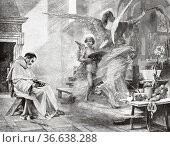 The Dream of Fra Angelico, painting by Albert Pierre René Maignan... Редакционное фото, фотограф Jerónimo Alba / age Fotostock / Фотобанк Лори