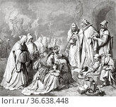 The inquisition in Spain. Inquisitor General Pedro Arbues condemning... Редакционное фото, фотограф Jerónimo Alba / age Fotostock / Фотобанк Лори
