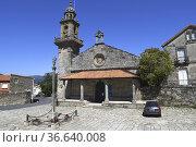 Muros, Colegiata de San Pedro or Colegiata de Santa Maria del Campo... Стоковое фото, фотограф J M Barres / age Fotostock / Фотобанк Лори