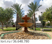 Old fountain in a public garden in the historical part of the city of Beer Sheva. Редакционное фото, фотограф Irina Opachevsky / Фотобанк Лори