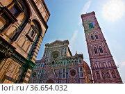 Ensemble vom Duomo Santa Maria del Fiore, Campanile und Battistero... Стоковое фото, фотограф Zoonar.com/Jearu / age Fotostock / Фотобанк Лори