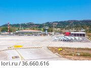 Zakynthos, Griechenland - 21. September 2020: Altes Terminal und ... Стоковое фото, фотограф Zoonar.com/Markus Mainka / age Fotostock / Фотобанк Лори
